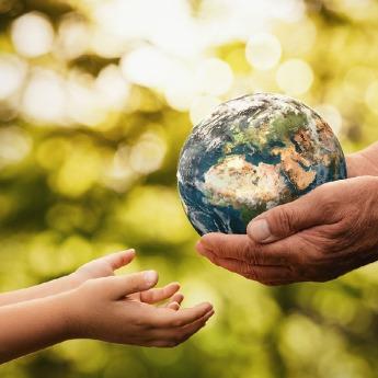 sustainable leadership ball - icon