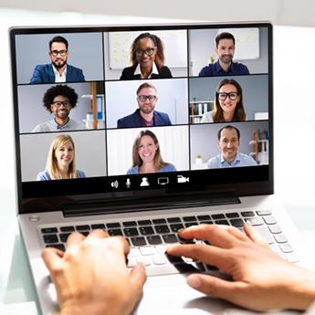 Virtual meetings Icon